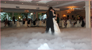 Wedding 1st dance with dry-ice