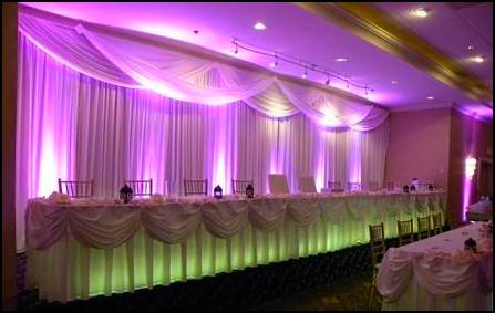 Wedding Head Table Lighting